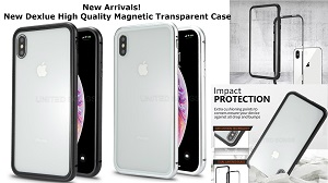 New Deluxe Magnetic Hybrid Transparent Case