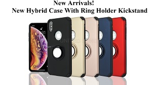 New Hybrid Case With Ring Holder Kickstand