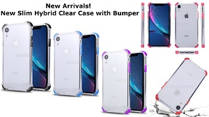 New Slim Hybrid Clear Case With Bumper
