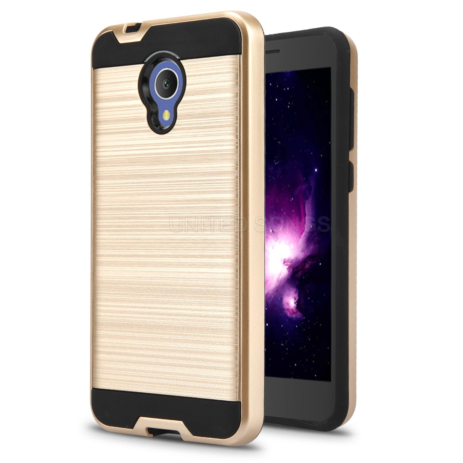 Alcatel 1X Evolve/IdealXTRA 5059R/TCL LX A502DL Hybrid Case Gold