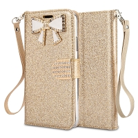 iPhone 11 Pro New Sparkle Diamond Wallet Case Gold