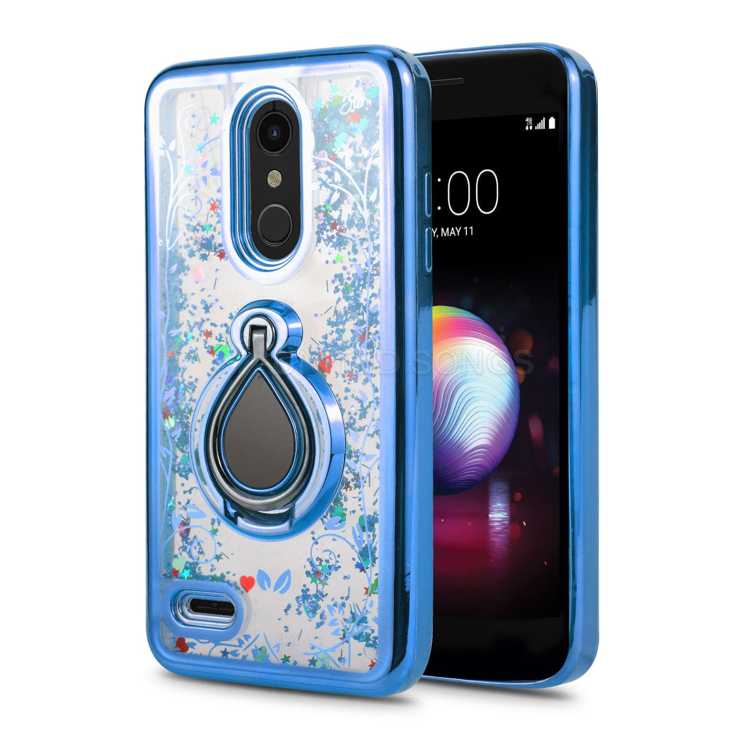 LG K30 New Liquid Case With Ring Blue