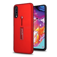 Samsung Galaxy A70 New Hybrid Finger Grip Case With Kickstand Red