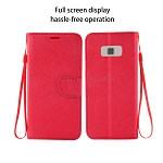 Samsung Galaxy S8 Wallet Case Red